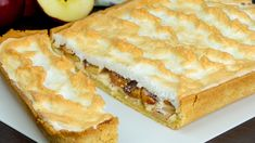 Un desert irezistibil! Prăjitură cu brânză, mere și bezea- simplă, deosebit de gustoasă și aromată! - savuros.info Queso Fresco, Party Desserts, Ricotta, Apple Pie, Recipies, Food And Drink, Low Carb, Dinner, Sweet