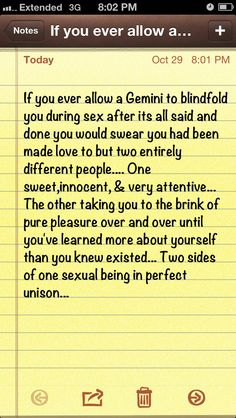 Sometimes I can't identify with the Gemini descriptions, but this.. I can!