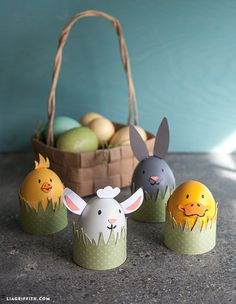 Invite this cute farm animal family to your #Easter with this easy #DIY project.