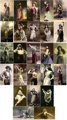 Everything Vintage B Gypsy Costumes of Copyright Free Images to Download