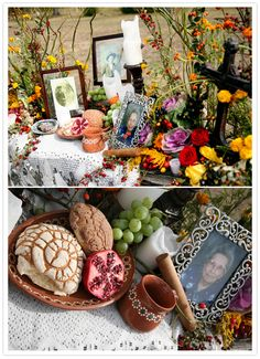 Day of the Dead altar more realistic than a lot of skulls pictures of our loved ones and what they liked❤️❤️