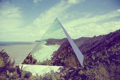 Geometric Mirrors Above Landscapes by David Copithorne