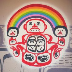 """""""It's always fun to find jewels of art here and there wherever we go. This one was under a bridge around Granville Island, Vancouver.  Art by Corey Bulpitt and Larissa Healy #streetart #art #arteurbano #haidaart #vancouver #britishcolumbiaart #aboriginalart"""" Photo taken by @juliastral on Instagram, pinned via the InstaPin iOS App! http://www.instapinapp.com (10/13/2014)"""