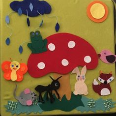 A GOMBA ALATT Felt Fabric, Fabric Art, Flannel Boards, Nursery School, Working With Children, Felt Ornaments, Diy And Crafts, Kindergarten, Kids Rugs