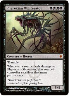 Phyrexian Obliterator Magic the Gathering card
