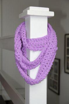 Purple Lilac Cowl / Infinity Scarf / Eternity Scarf. $30.00, via Etsy.