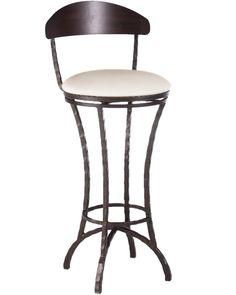 "Hudson Swivel Barstool 30"" by Charleston Forge Made in USA http://www.charlestonforge.com/bar-stools/C853_Hudson_Swivel_Barstool"