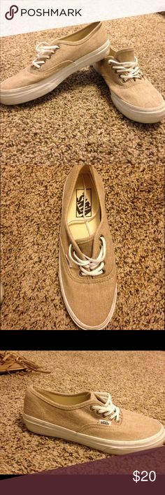 Tan Vans size 6.5 Like new, only wore once! Vans Shoes Sneakers