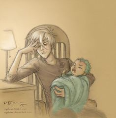 Babysitting by CaptBexx on DeviantArt Draco is babysitting Teddy again ^-^