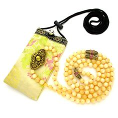 8mm Yellow Calcite/Rhodonite 108 Tibetan Style Full Buddhist Malas, Gemstone Mala Necklace, Knotted Mala Beads, Japa, Rosary Meditation Yoga