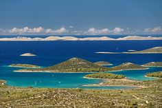 Murter archipelago and Kornati in the background, Croatia