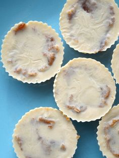 Salted Caramel Tahini Cups - Only a few ingredients needed for these delicious, creamy, decadent, whole food treats. Vegan, no-bake.