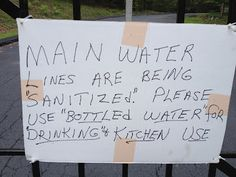 I wonder what's really happening to the water lines.