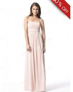 Sheath/Column Strapless Sleeveless Floor-length Chiffon Bridesmaid Dress #VJ061 - See more at: http://www.ellendress.com/wedding-apparel/bridesmaid-dresses.html#sthash.5ieNwr7W.dpuf