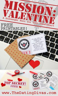 This idea is PERFECT for Valentine's Day- cute scavenger hunt!