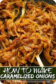 Pork Recipes For Dinner, Side Dish Recipes, Vegetable Recipes, Appetizer Recipes, Vegetarian Recipes, Cooking Recipes, Healthy Recipes, Appetizers, Caramelized Onions Recipe
