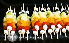 rainbow fruit skewers (for Vacation Bible School snack)