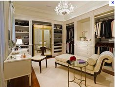 Walk in closet....I think I would never leave this room.