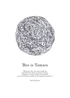 """Interpretazione visiva della città di Tamara, descritta da Italo Calvino nel libro """"Le città invisibili""""."""