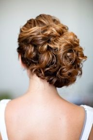babysbreath in curly wedding hair - Google Search