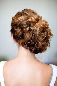babysbreath in curly wedding hair - Google Search