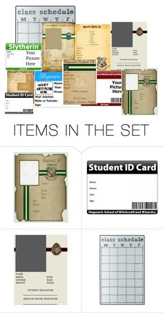 """""""Hogwarts ID Cards"""" by grandmasfood ❤ liked on Polyvore featuring art"""