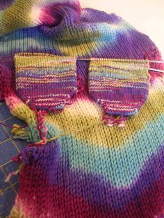 Inspiration for sock blank dyeing!