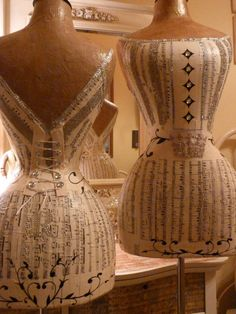 love these vintage dress forms