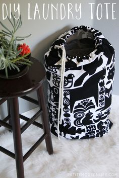 This DIY Laundry Tote uses beautiful Marimekko fabric and is totally multi functional.