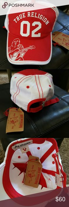 ce35870c Shop Women's True Religion Red White size OS Hats at a discounted price at  Poshmark.