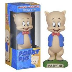 Wacky Wobblers Looney Tunes Porky Pig Bobble Head by Funko Wacky Wobbler, This Little Piggy, Fantasy Dragon, Pull Toy, Bugs Bunny, Action, Looney Tunes, Bobble Head, Vinyl Figures