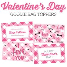 Downloadable Toppers, DIY Valentine's Day Treat Bags