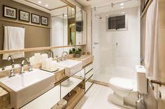 Construindo Minha Casa Clean: 10 Banheiros Modernos com Armários Espelhados! Confira!!!