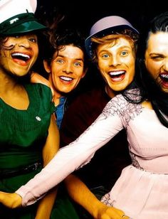 Angel Coulby, Colin Morgan, Bradley James and  Katie McGrath