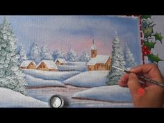 Adaid Gonzalez shared a video Painting Videos, Painting Tips, Fabric Painting, Painting & Drawing, Xmas Cards, Painted Rocks, Folk Art, Stencils, Projects To Try