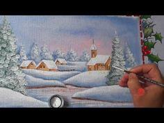 Paisagem Natalina em Tecido (Natal 2) - YouTube