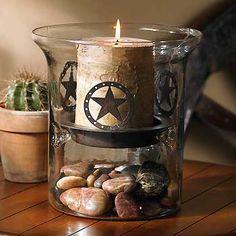 Western Star Candle Holder