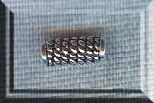 Sterling Silver Coil Tube Beads 10mm 2 per bag