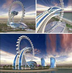Diamond Ring Hotel, Dubai  the rooms rotate!