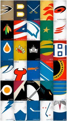 All my minimalist hockey logos