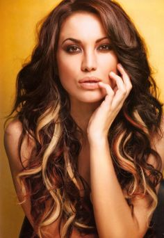 Peek a boo highlights... Just got my hair done like this and i love it!