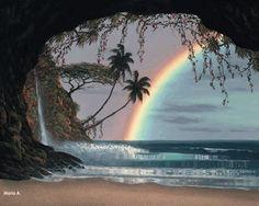 Que Deus lhe dê...Para cada tempestade, um arco íris. Para cada lágrima, um sorriso. Para cada cuidado, uma promessa. E uma bênção para cad...