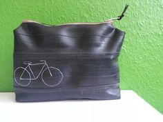 Kosmetiktasche aus Fahrradschlauch