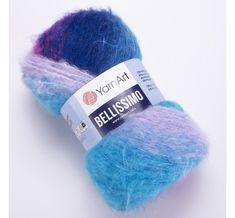 Yarn BELLISSIMO YarnArt mohair yarn ombre yarn gradient shawl yarn knitting yarn poncho yarn crochet yarn rainbow yarn wool yarn Yarn