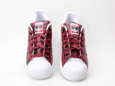 purchase cheap 0ba99 be51d CALIENTE Adidas Originals Superstar 80s AF5581 Athletic rojo Clásico  Sneakers Casual Zapatos