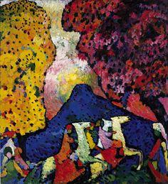 Collection Online | Vasily Kandinsky. Blue Mountain (Der blaue Berg). 1908–09 - Guggenheim Museum
