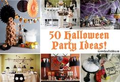 50 + Awesome HALLOWEEN PARTY IDEAS by louise
