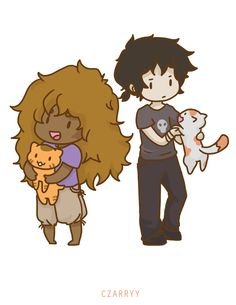 Hades kids with cats!!!! | art by czarryy