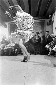 Gypsy Dancers In Madrid - 1960. Photo by Loomis Dean