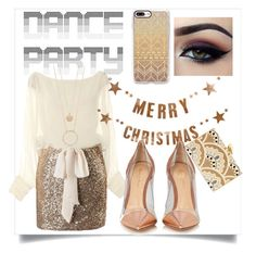 """""""Party Dance"""" by mascardibeauty ❤ liked on Polyvore featuring Casetify, KOTUR, Bloomingville, Gianvito Rossi and Kate Spade"""